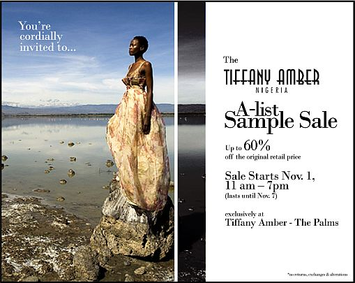 Tiffany Amber Sample Sale Tiffany Amber A List 60% Off Sample Sale!