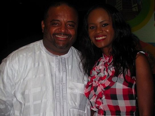 Adaure Achumba with CNN Roland Martin Industry Moves: Adaure Achumba Joins MNET Studio 53