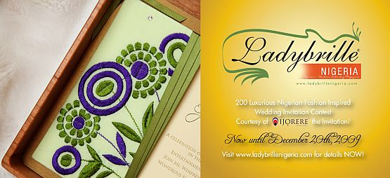 LadybrilleNigeria Ijorere Contest Temi Oshomoji, Winner LadybrilleNigeria Ijorere the Invitation Wedding Contest