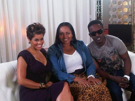MI along with BET VP MI & P Square at the 2010 BET Awards PRE SHOW (Pictures)