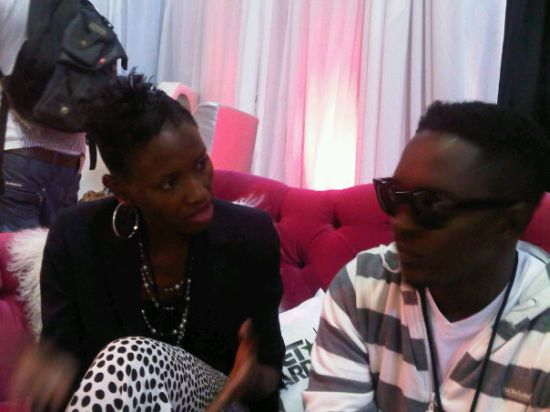 MI with Uduak Oduok MI & P Square at the 2010 BET Awards PRE SHOW (Pictures)