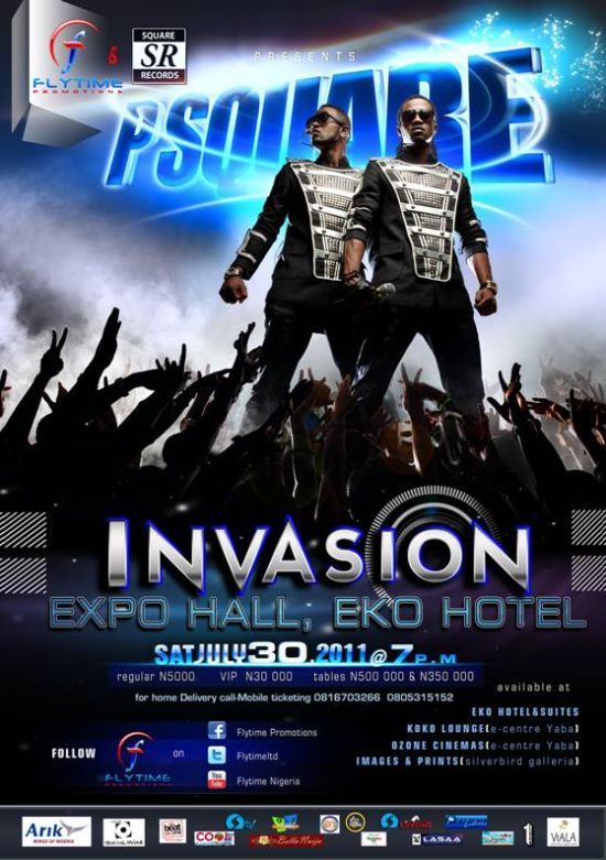 P Square P Square The Invasion at the Expo, Eko Hotel July 30th, 2011
