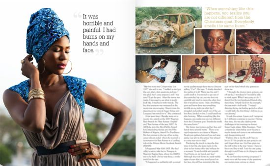 Stephanie Okereke African Vibes Magazine 3 Stephanie Okereke Covers African Vibes Magazine USA, Talks Divorce, Accident and New Beginnings