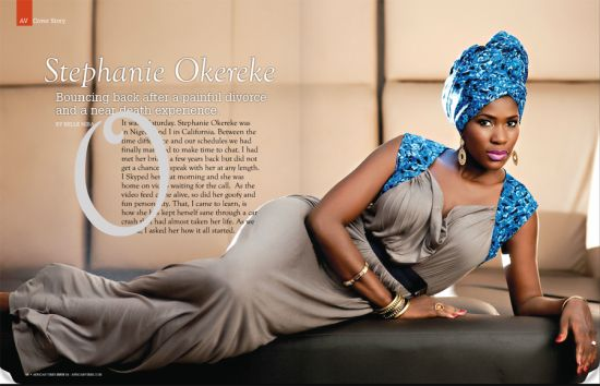 Stephanie Okereke African Vibes Magazine Stephanie Okereke Covers African Vibes Magazine USA, Talks Divorce, Accident and New Beginnings