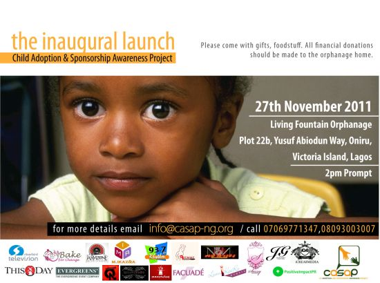 Casap launch Child Adoption & Sponsorship Awareness Project(CASAP), November 27th, 2011