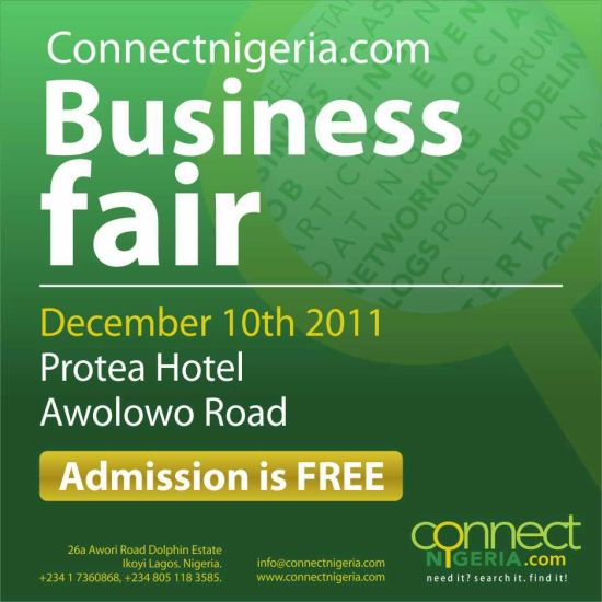 Connect Nigeria Business Fair 2011 Connect Nigeria Business Fair December 10th, 2011