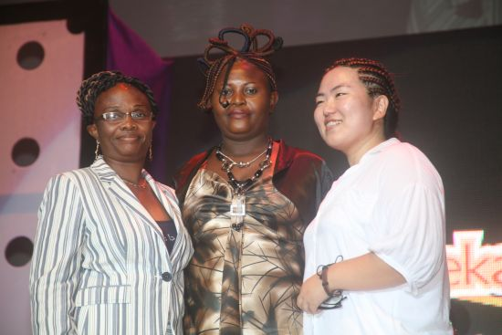 Stephanie Okereke Kanekalon 3 Pictures: Stephanie Okereke Celebrates Kanekalon's 2nd Night of 1,000 Braids Special Event in Lagos
