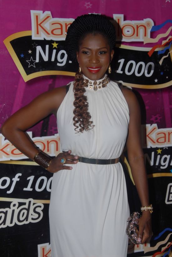 Stephanie Okereke Kanekalon Pictures: Stephanie Okereke Celebrates Kanekalon's 2nd Night of 1,000 Braids Special Event in Lagos