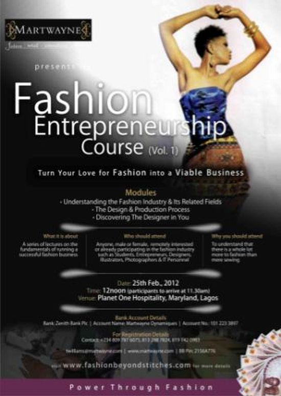 Fashion Entrepreneurship Course (FEC 1) - 25 Feb 2012