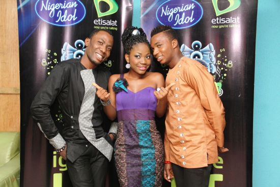 Nigerian Idol Top 3 ContestantsMercy and Joe Blue