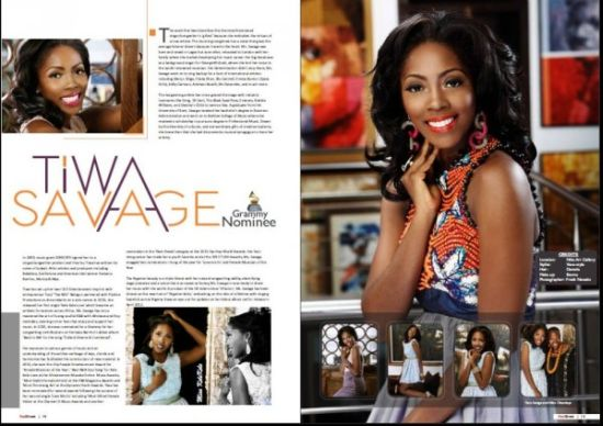 Tiwa Savage Red Sheet Magazine 6 Tiwa Savage Cool, Sexy, Chic on Red Sheet Magazine Cover