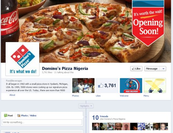 Domino's Pizza Set to Open in Nigeria