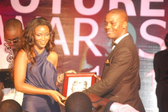 Genevieve and The Future Project Founding Partner Adebola Williams at The Future Awards 2011