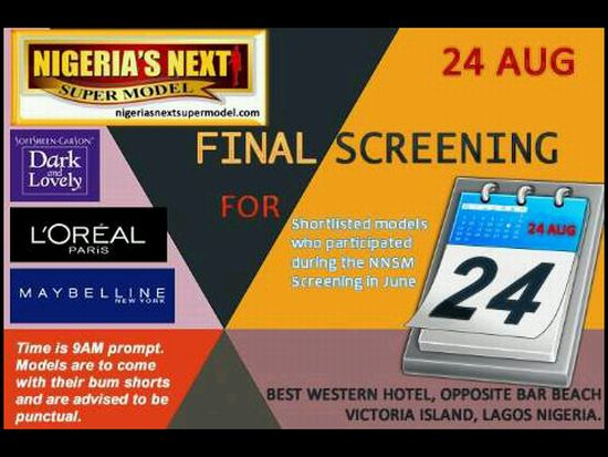 Nigeria's Next Supermodel  Final Screening August 24th 2012