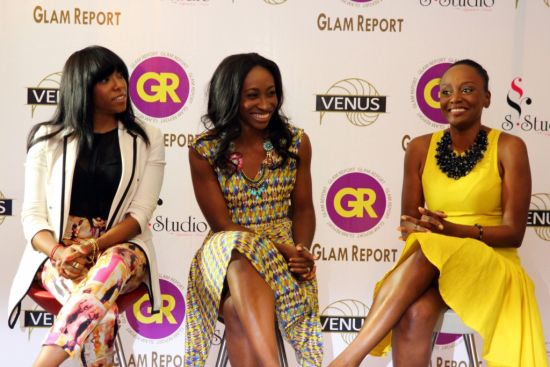 The 'Glam' Trio- Fade Ogunro (left), Didi Ocheja (middle) & Michelle Dede (left)