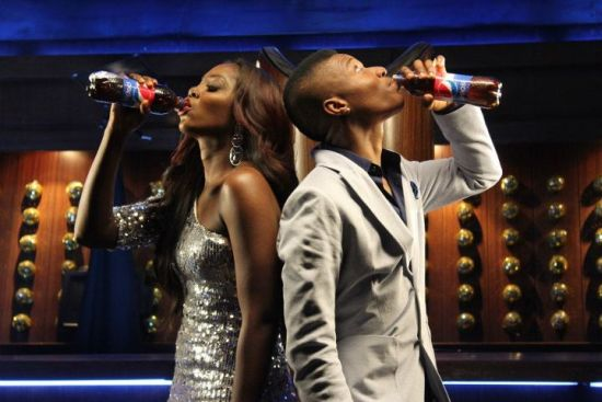Wizkid and Tiwa Savage Pepsi Commerical