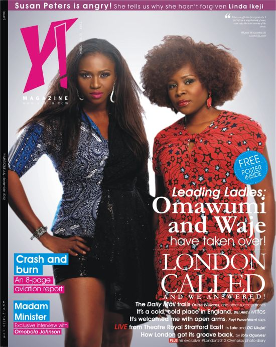 Y Magazine Issue 9 Cover Top Music Divas Waje and Omawumi Light Up Cover of Y! Magazines Latest Issue!