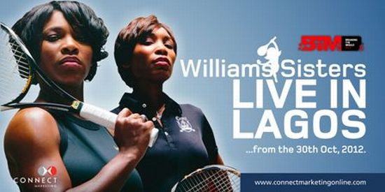 Williams Sisters Live in Lagos pic web Nike Okundaye, Ola Olakunrin Honored as Mould Breakers by Serena & Venus Williams