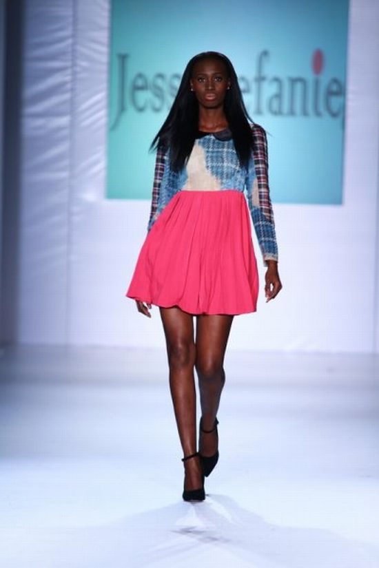 MTN Lagos Fashion and Design Week Jess Stefanie 1 MTN Lagos Fashion & Design Week Spring/Summer 2013: Jess Stefanie Puts a Spin on Pinafore #Nigerianfashion