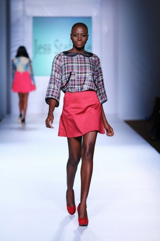 MTN Lagos Fashion and Design Week Jess Stefanie 2 MTN Lagos Fashion & Design Week Spring/Summer 2013: Jess Stefanie Puts a Spin on Pinafore #Nigerianfashion