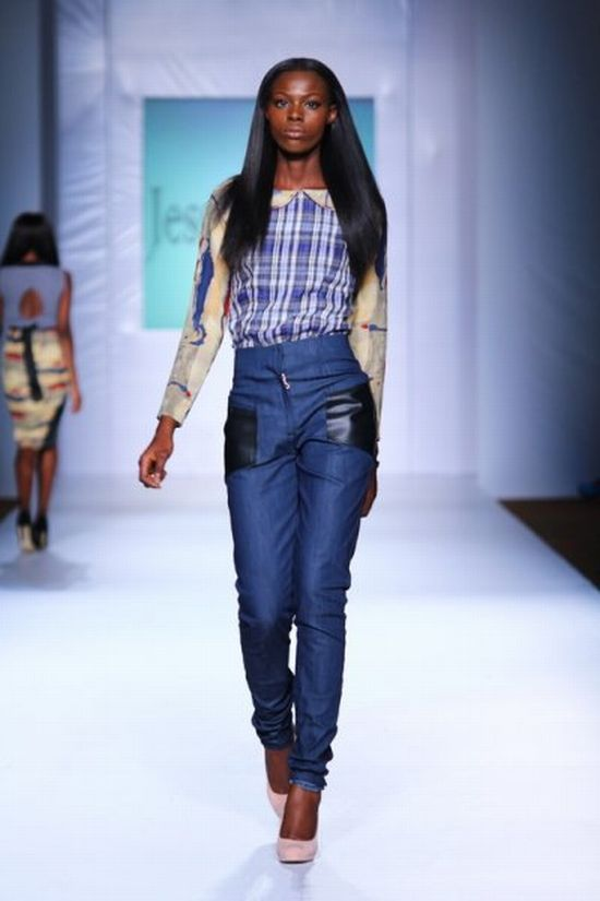 MTN Lagos Fashion and Design Week Jess Stefanie 3 MTN Lagos Fashion & Design Week Spring/Summer 2013: Jess Stefanie Puts a Spin on Pinafore #Nigerianfashion