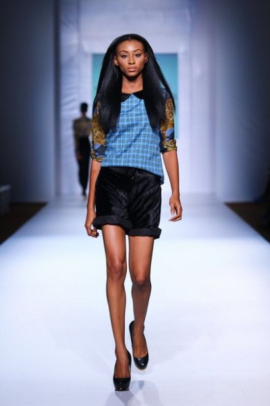 MTN Lagos Fashion and Design Week Jess Stefanie 4 MTN Lagos Fashion & Design Week Spring/Summer 2013: Jess Stefanie Puts a Spin on Pinafore #Nigerianfashion