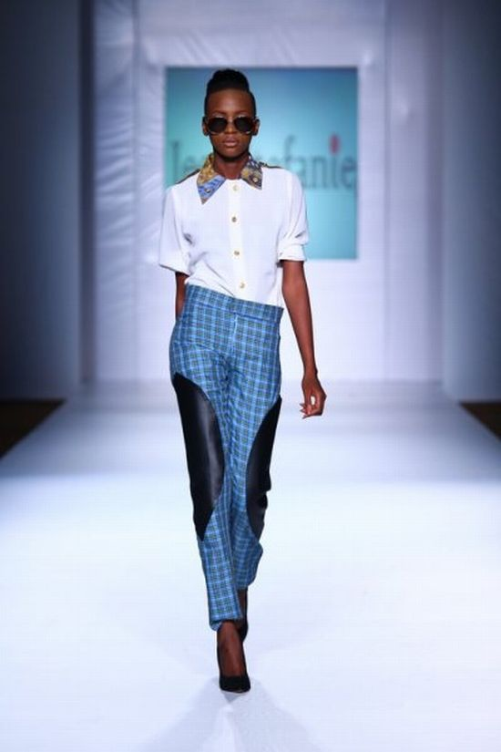 MTN Lagos Fashion and Design Week Jess Stefanie 5 MTN Lagos Fashion & Design Week Spring/Summer 2013: Jess Stefanie Puts a Spin on Pinafore #Nigerianfashion