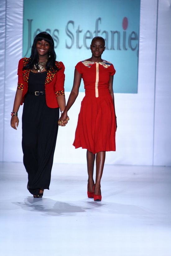 MTN Lagos Fashion and Design Week Jess Stefanie 6 MTN Lagos Fashion & Design Week Spring/Summer 2013: Jess Stefanie Puts a Spin on Pinafore #Nigerianfashion