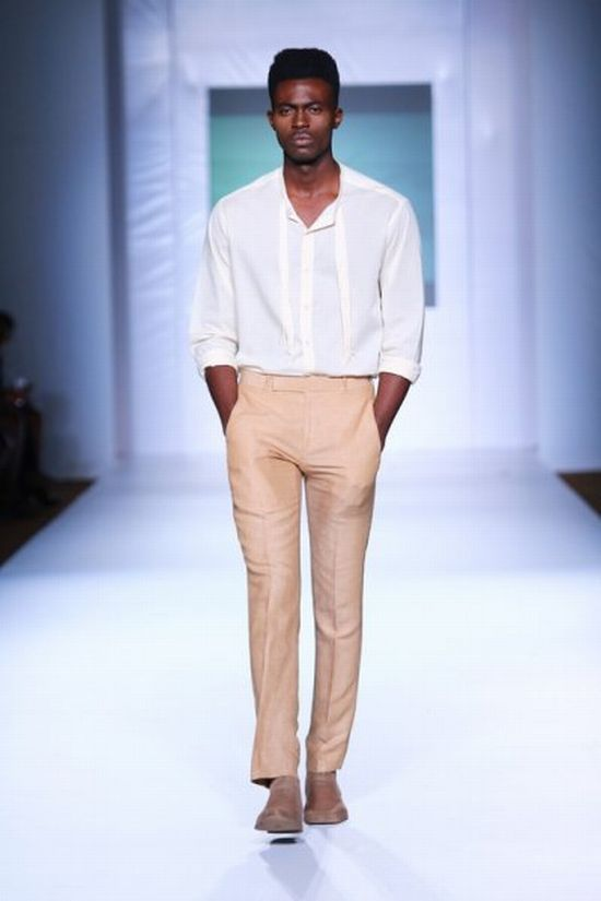 MTN Lagos Fashion and Design Week Kelechi Odu 1 MTN Lagos Fashion & Design Week Spring/Summer 2013: Kelechi Odu Takes the Nigerian Man to the South of France in the 1920s with Igbo References #Nigerianfashion