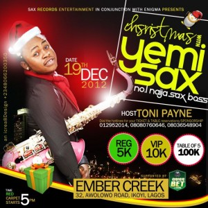 Christmas with Yemi Sax Hosted by Toni Payne 2012