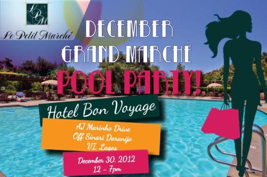 Grand Marche Pool Party Happy NEW YEAR!! + Le Petit Marché Grandest Marché Pool Party, Yet!